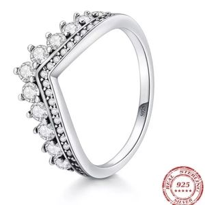 925 Sterling Silver Crown Ring